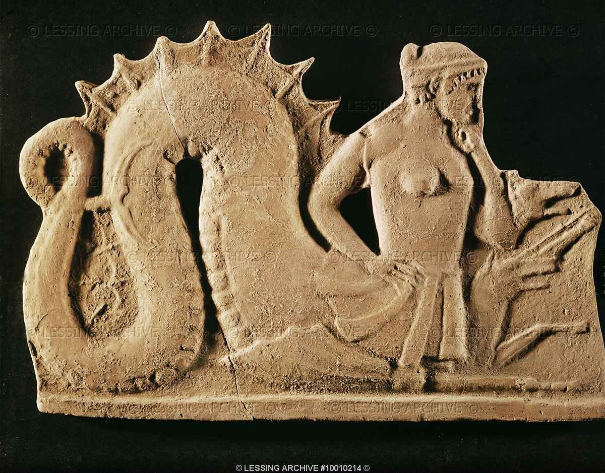 Terracota Bas Relief Of Sylla Sea Monster 5th Bce From Melos Greece British Museum Carved Mermaid Art Ovid