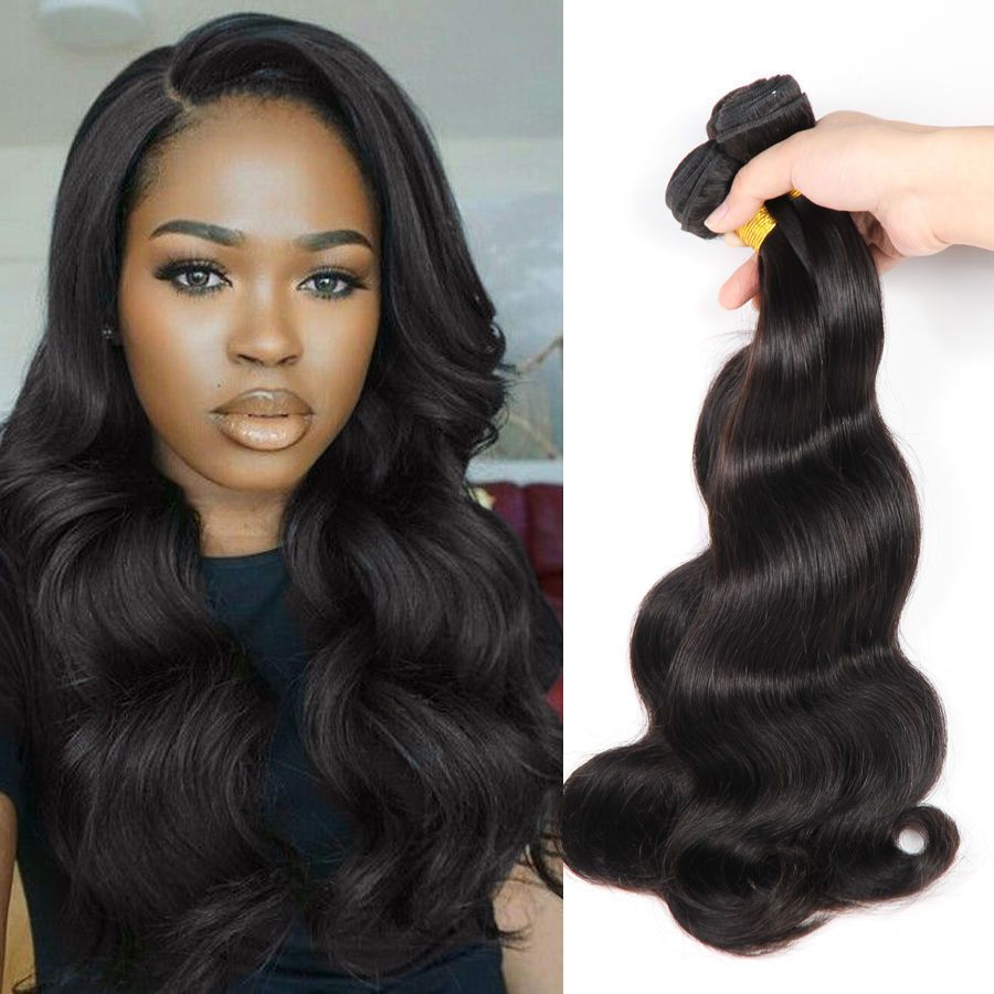 Unprocessed 3 Bundles 6a Virgin Brazilian Human Remy Hair Weave Body