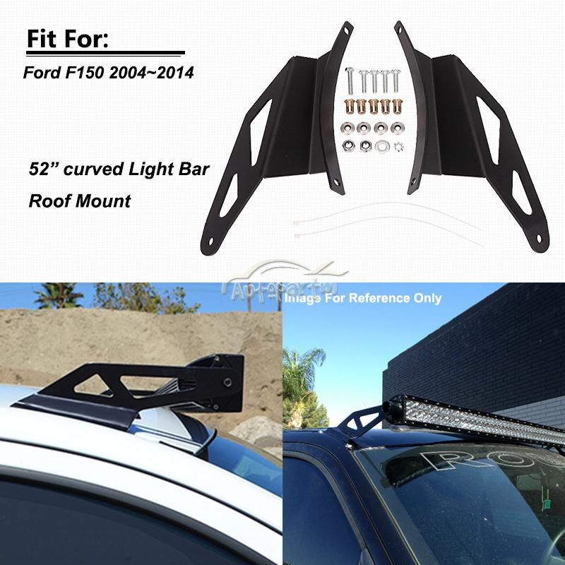 52inch Curved Led Light Bar Windshield Mounting Brackets Fit For 04 14 Ford F150 Curved Led Light Bar Ford F150 F150