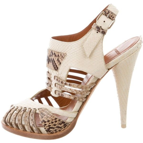Pre-owned - Python sandals Givenchy Best Store To Get Online 701feTc