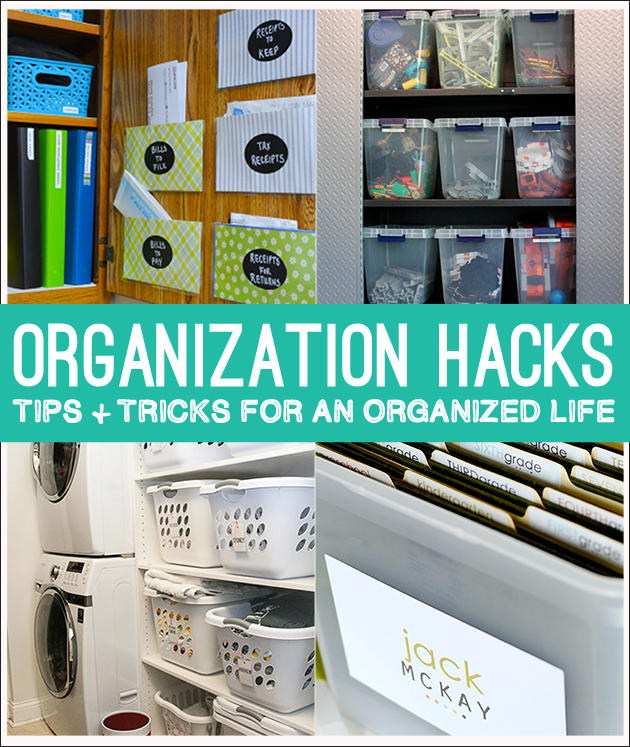 Organization Hacks! Tips and tricks to an organized life and family on www.thirtyhandmadedays.com
