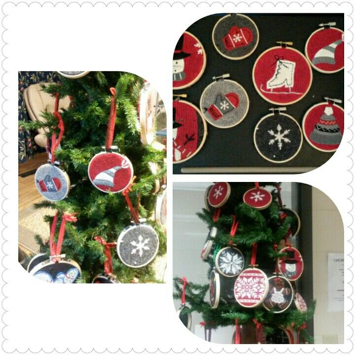 Upcycled Ugly Xmas Sweater Ornaments So fun to make! Madtown