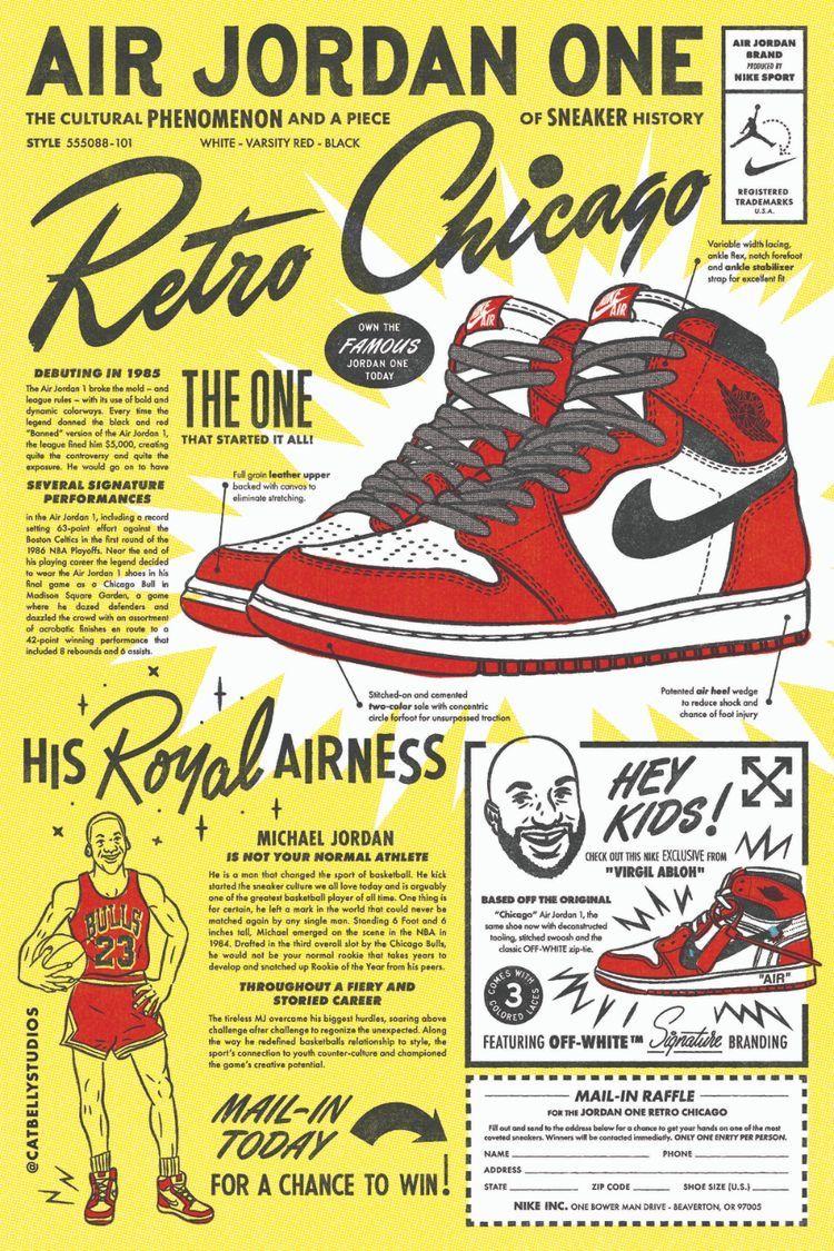 Air Jordan 1 // Merun | Jordan poster, Retro graphic design, Retro ...
