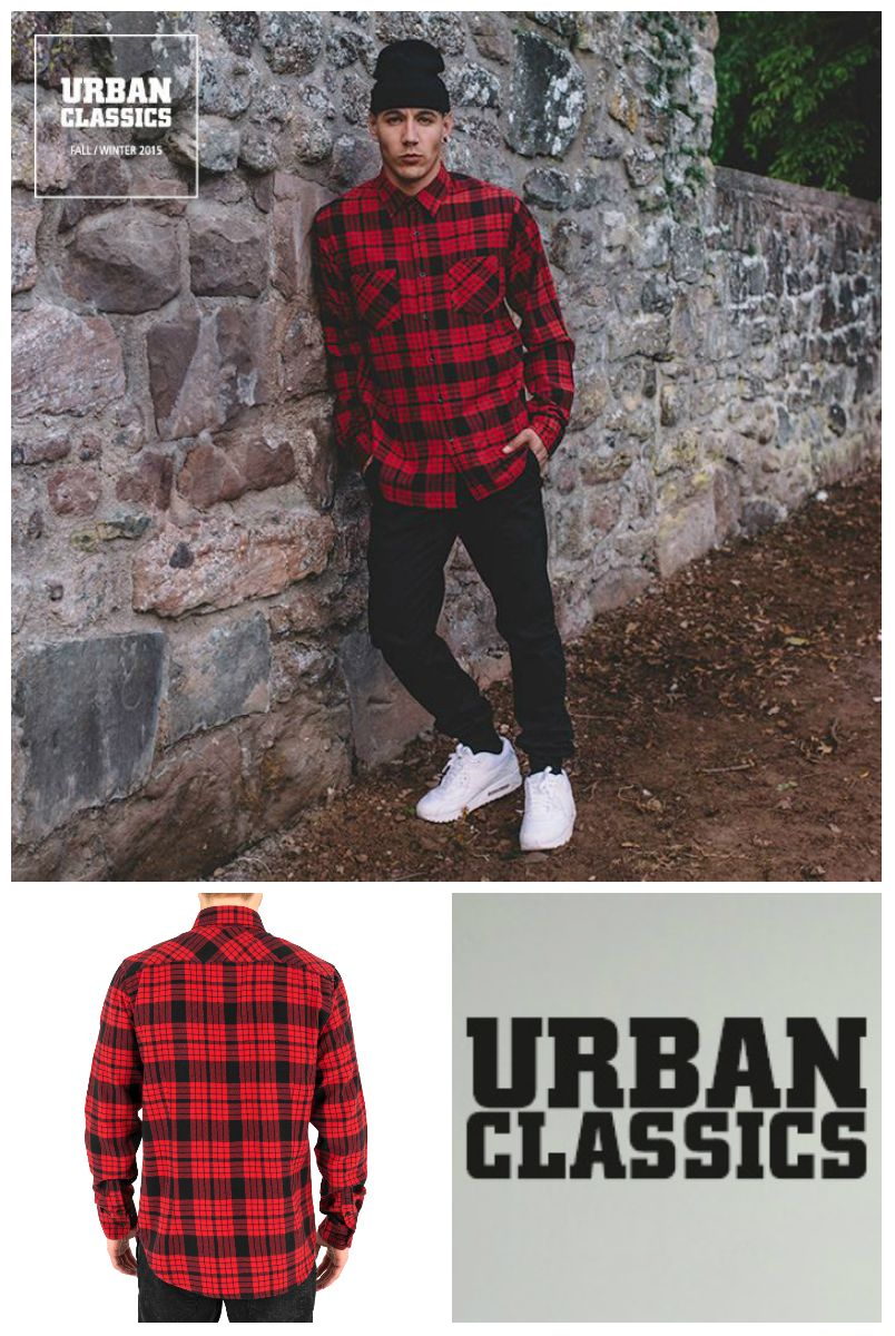 Urban Classics Checked Flannel 2  Shirt red & black ➡ http://www.hoodboyz.co.uk/product/p152757_urban-classics-checked-flanell-2-men-shirt-red-black.html