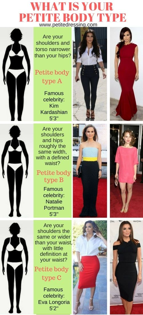 98443aac1939 Petite doesn t just mean skinny. Answer one simple question to find out  what body type you are and how to dress for it.