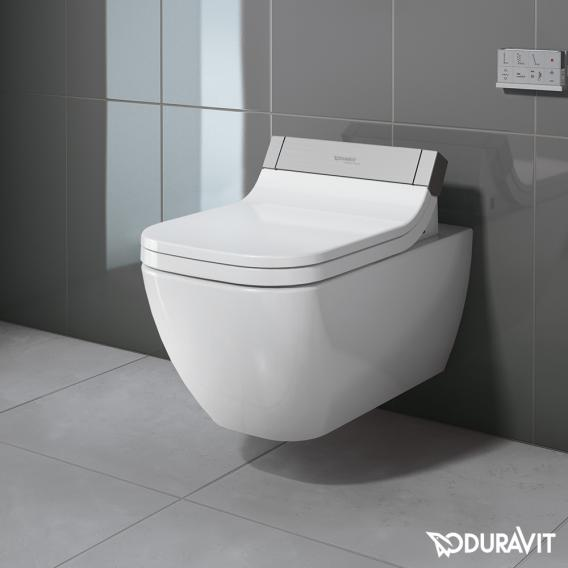 Duravit Happy D 2 Wall Mounted Washdown Toilet For Sensowash Rimless Extended Version White 2550590000 Reuter Com Toilettes