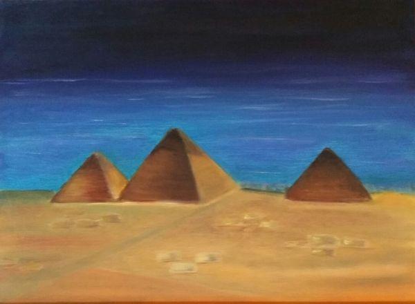The Pyramids - oil paintings