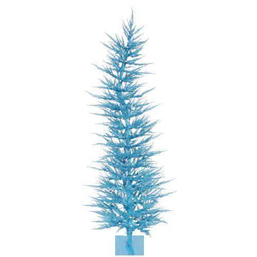 6\u0027 Pre-Lit Sparkling Whimsical Sky Blue Artificial Christmas Tree