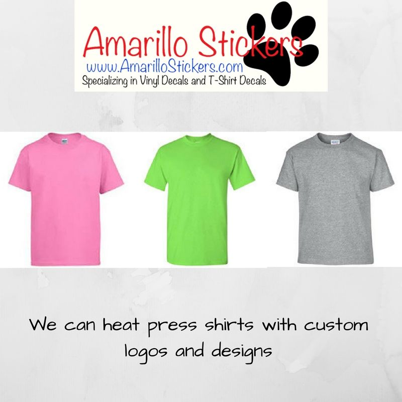If You Want Something Special Amarillo Stickers Has It We - Custom vinyl decals for tee shirts