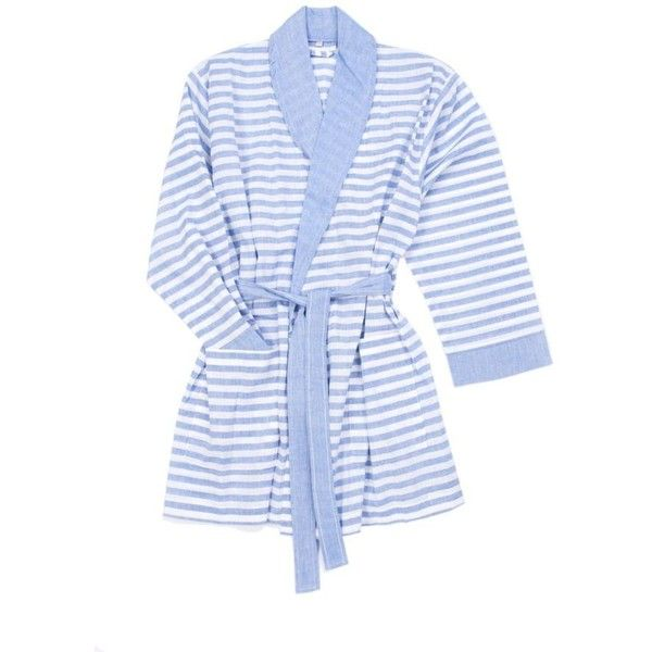 d13d615d56 Turkish T Sorbet Short Bathrobe Royal Blue Xs-s By ( 78) ❤ liked on  Polyvore featuring intimates