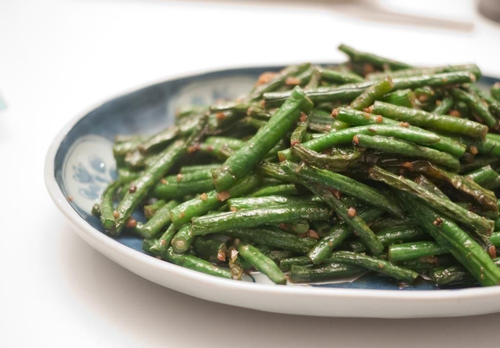 Chinese Long Beans with Garlic