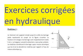 Exercices Corrigees Qui Concernent Des Ouvrages Et Travaux Hydrauliques Comme Les Barrages L Ecoulement Sur Une Digu Hydraulique Exercice Barrage Hydraulique