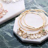 Personalised Diamante Star Charm Bangles