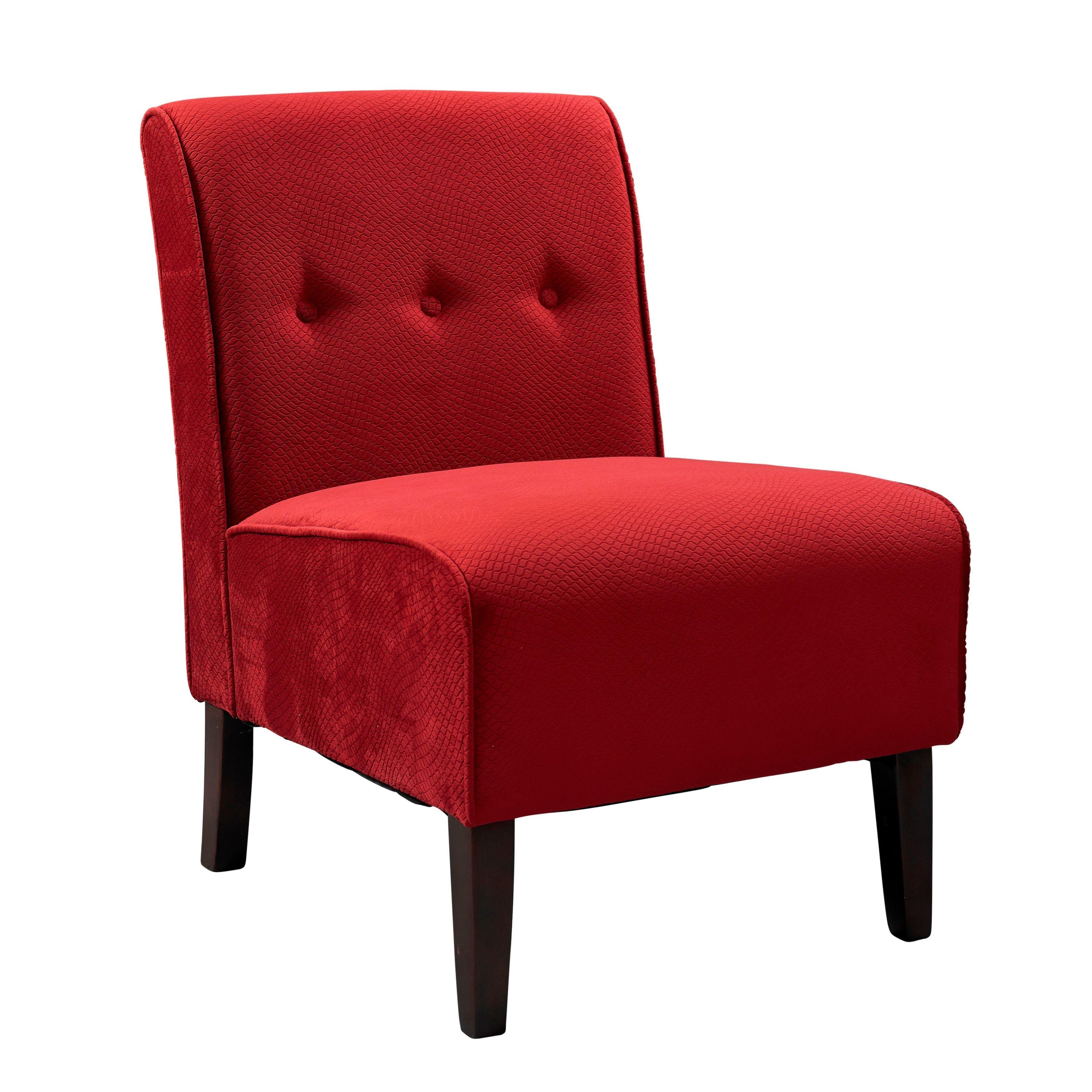 Best Porch Den Cumberland Bright Red Button Tufted Lounge 400 x 300
