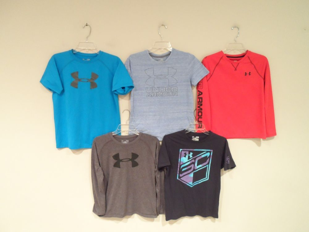e14c7a75b78b Lot of 5 Under Armour Boys Shirts Size Large T-Shirt Heat Gear Athletic Kids  Top   13.99 End Date  Monday Oct-8-2018 17 25 13 PDT Buy It…