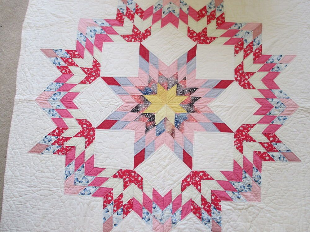 Vintage Antique Handmade Quilt 1930 S Texas Lone Star Broken