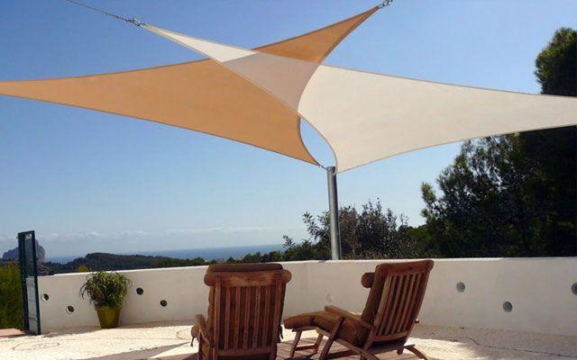 Toldos vela para la decoraci n de terrazas y jardines jard n en 2019 pinterest - Toldos de tela para terrazas ...