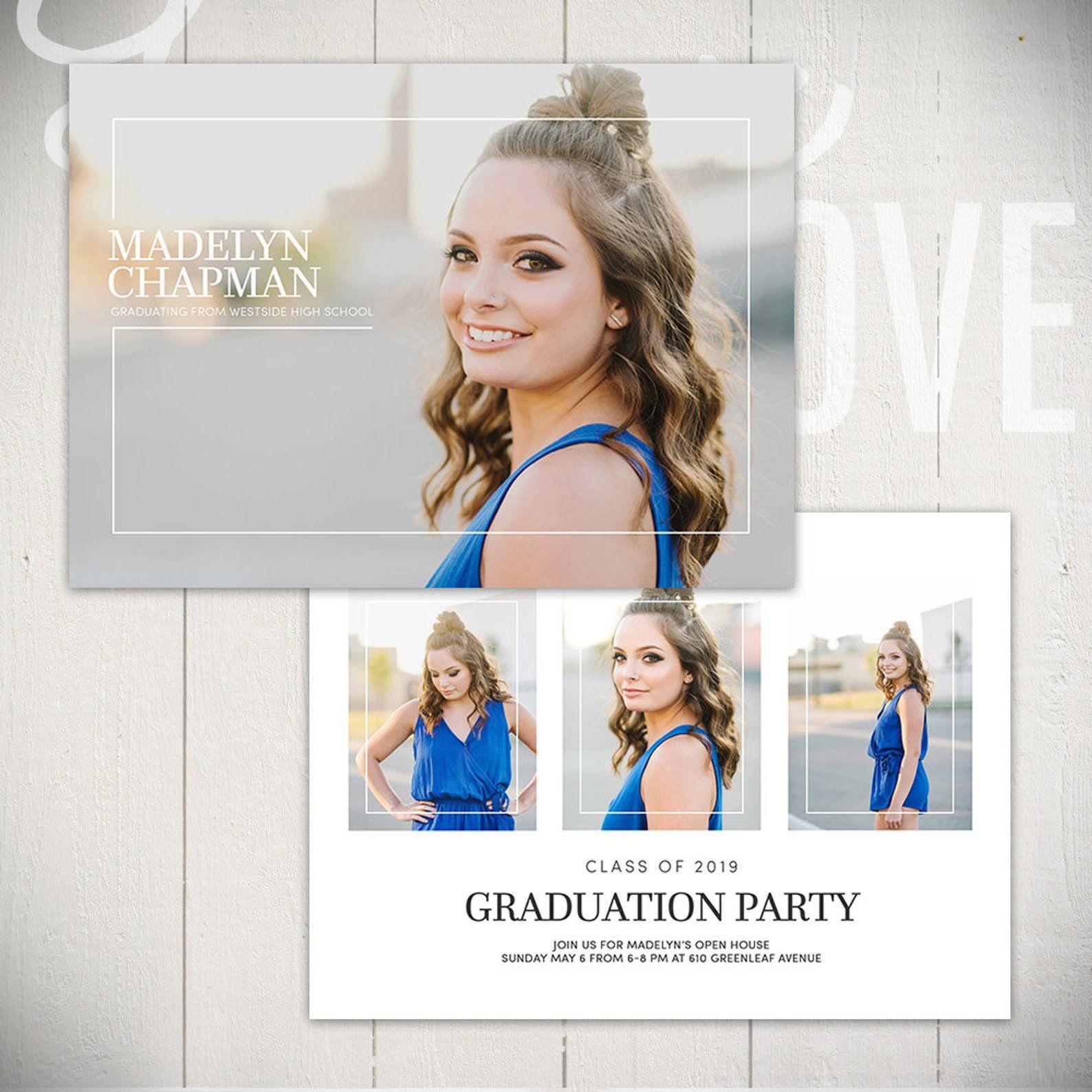 Graduation announcement template brilliance card a 5x7