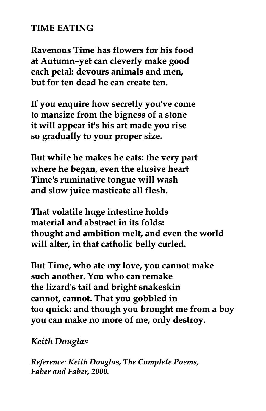 Keith Castellain Douglas Slam Poetry British Poets Poems