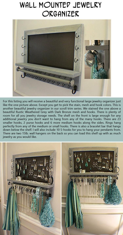 wall-mounted-jewelry-organizer   Craft Ideas   Pinterest ...