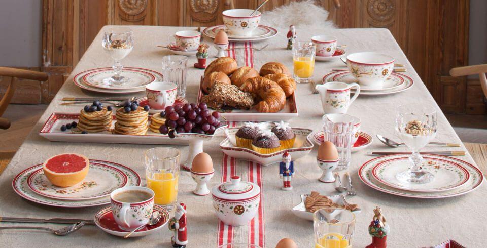 Petit-déjeuner de Noël avec Villeroy & Boch | Vaisselle de Noël ...