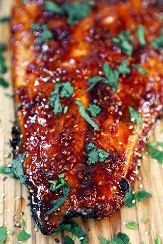 Honey Sriracha Oven Baked Salmon | Pickled Plum |