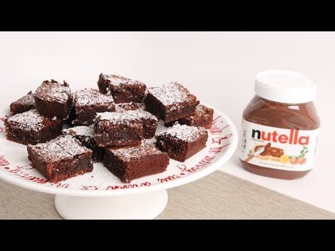 Nutella Brownies Recipe Laura Vitale Laura In The Kitchen Episode 1000 Brownies Recipe Easy Nutella Brownies Nutella Recipes Brownies