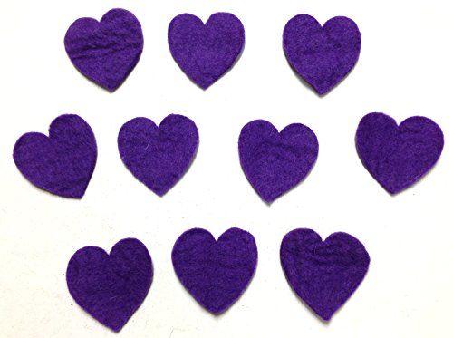 Yarn Place Felt Wool Felted Die Cut Hearts 10 Pieces Color: Purple Size: 25mm x 25mm Yarn Place http://www.amazon.com/dp/B00P46VGXU/ref=cm_sw_r_pi_dp_TAbyub17EDM1W