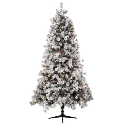 Home Accents Holiday 7 5 Ft Quick Set Pre Lit Led Sierra Nevada Artificial Chr Christmas Tree With Built In Lights Pre Lit Christmas Tree Led Christmas Lights