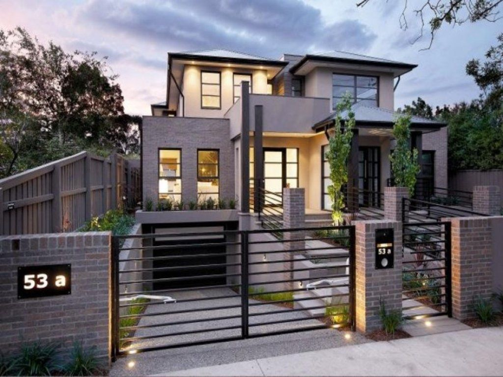 Modern fence ideas google search for Contemporary house exterior