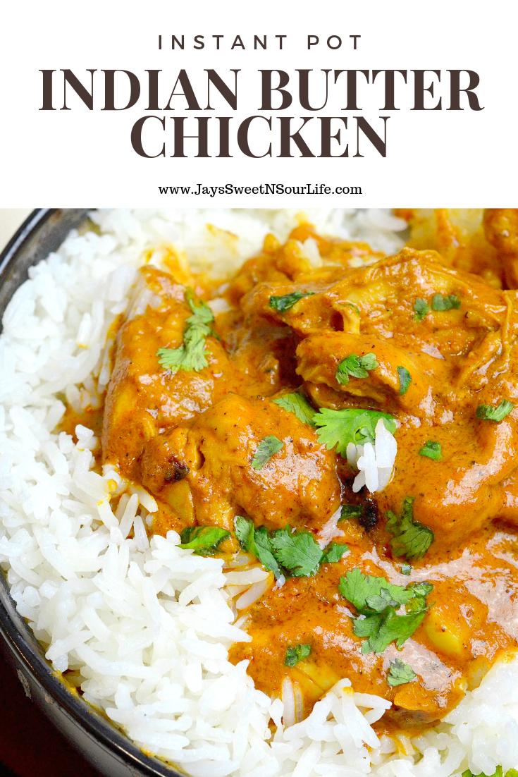 Pressure Cooker Indian Butter Chicken Instant Pot Indian Butter Chicken is a buttery chicken…