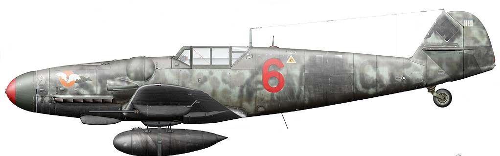 Messerschmitt Bf 109 G-6. № 6 ,Oberfeldwebel Arnold Döring 2./JG 300, Germany, November 1943.