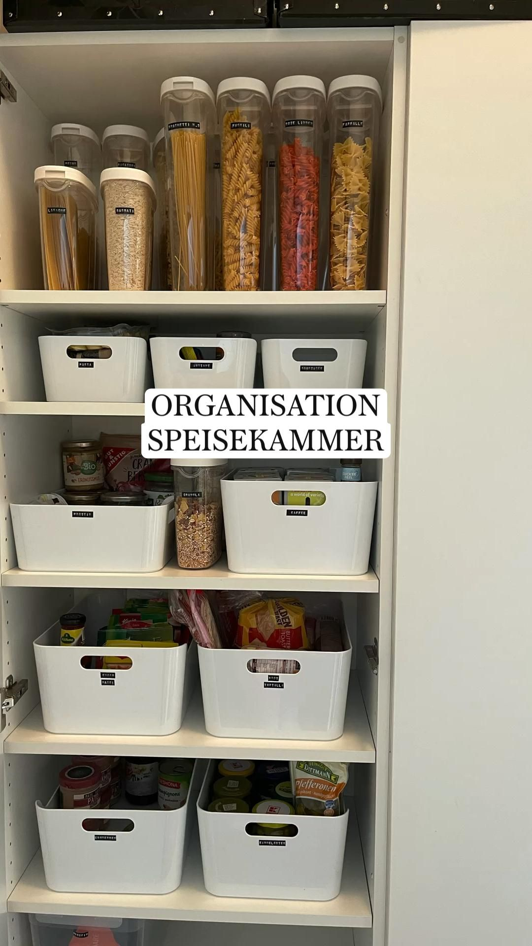 ORGANISATION  SPEISEKAMMER - Organisation Küche  organisation  küche  speisekammer  aufbewahrung