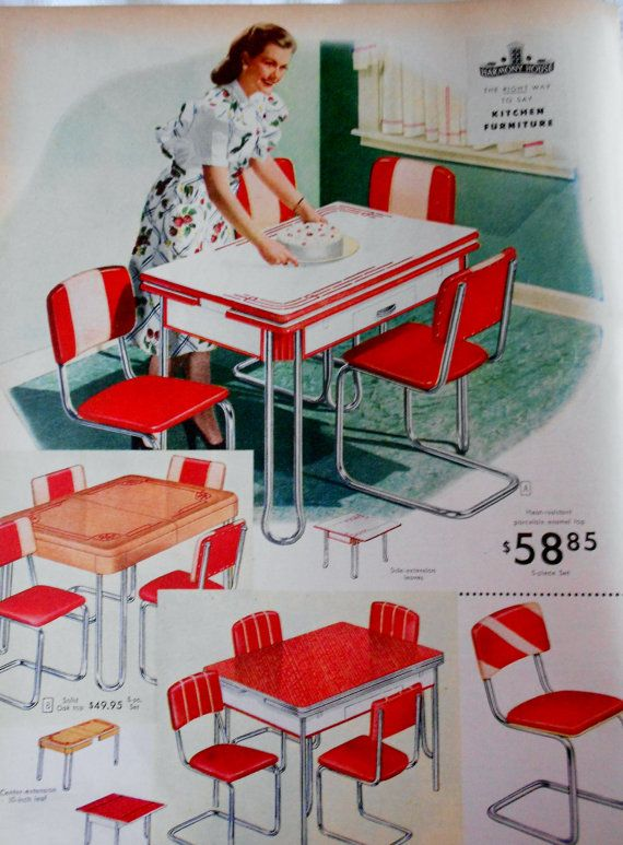 Sears Roebuck and Co 1946 Advertising Catalog Page Retro Kitchen