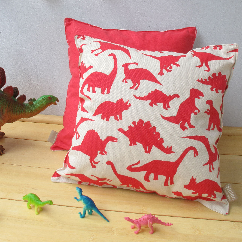 Children's Dinosaur Print Cushion