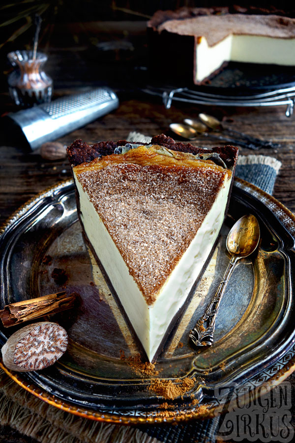 Cremekuchen Mit Muskatnuss Und Zimt Zucker Zungenzirkus In 2020 Cremekuchen Coole Desserts Kuchen Und Torten Rezepte