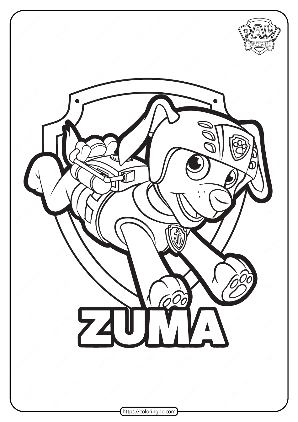 Free Printable Paw Patrol Zuma Coloring Pages 1 In 2021 Paw Patrol Coloring Paw Patrol Printables Paw Patrol Coloring Pages [ 1344 x 950 Pixel ]