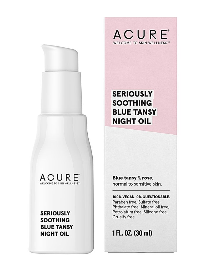 Acure Seriously Soothing Blue Tansy Night Oil -- 1 Fl Oz