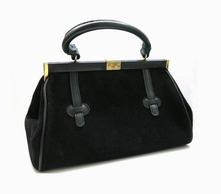 heiße Angebote Neuankömmlinge exklusives Sortiment Vintage Goldpfeil Handtasche | Bügeltasche schwarz | Leder ...