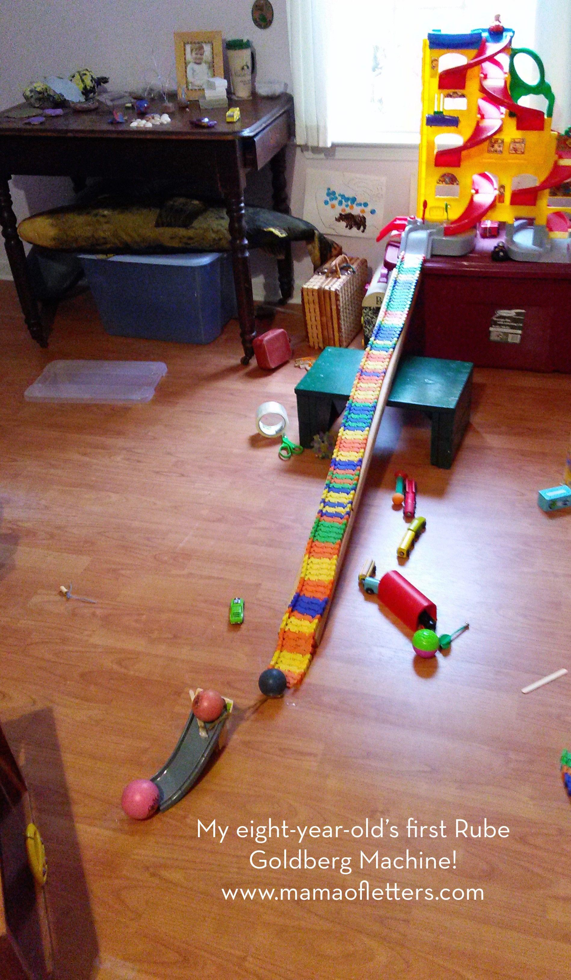 Project Based Homeschooling Rube Goldberg Machine