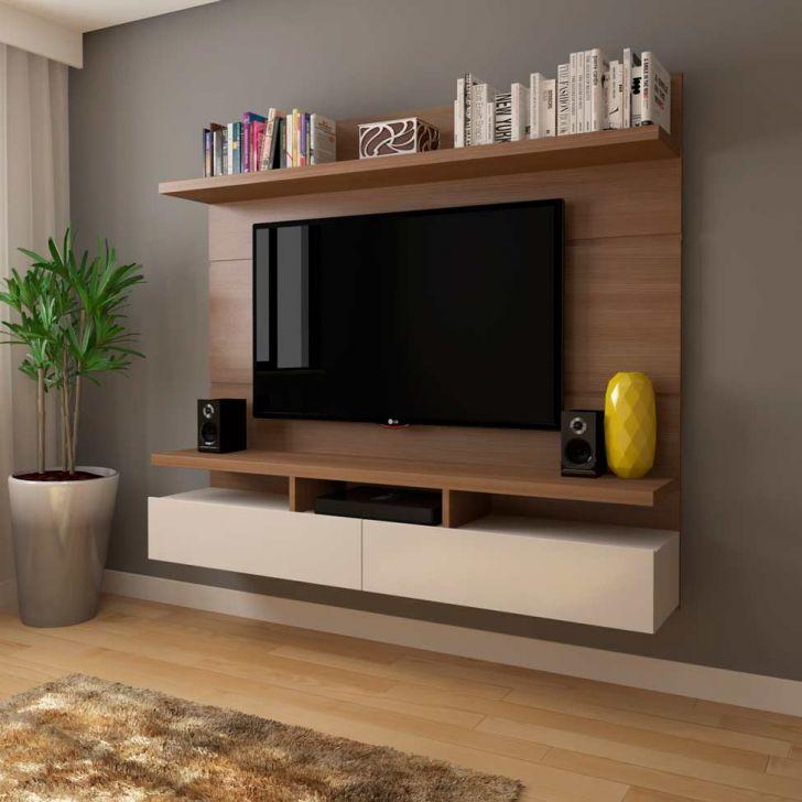 Painel para tv 50 polegadas zeus natural e off white 184 for Sala de estar off white