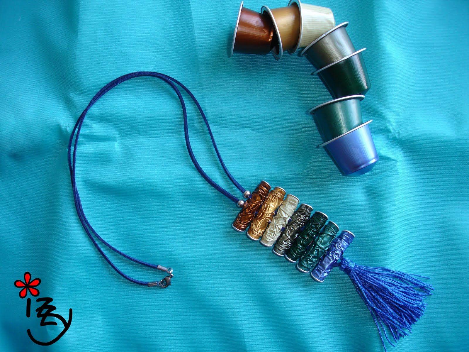 bijoux faits avec des capsules nespresso dia da m e pinterest bijuteria colares e caf. Black Bedroom Furniture Sets. Home Design Ideas