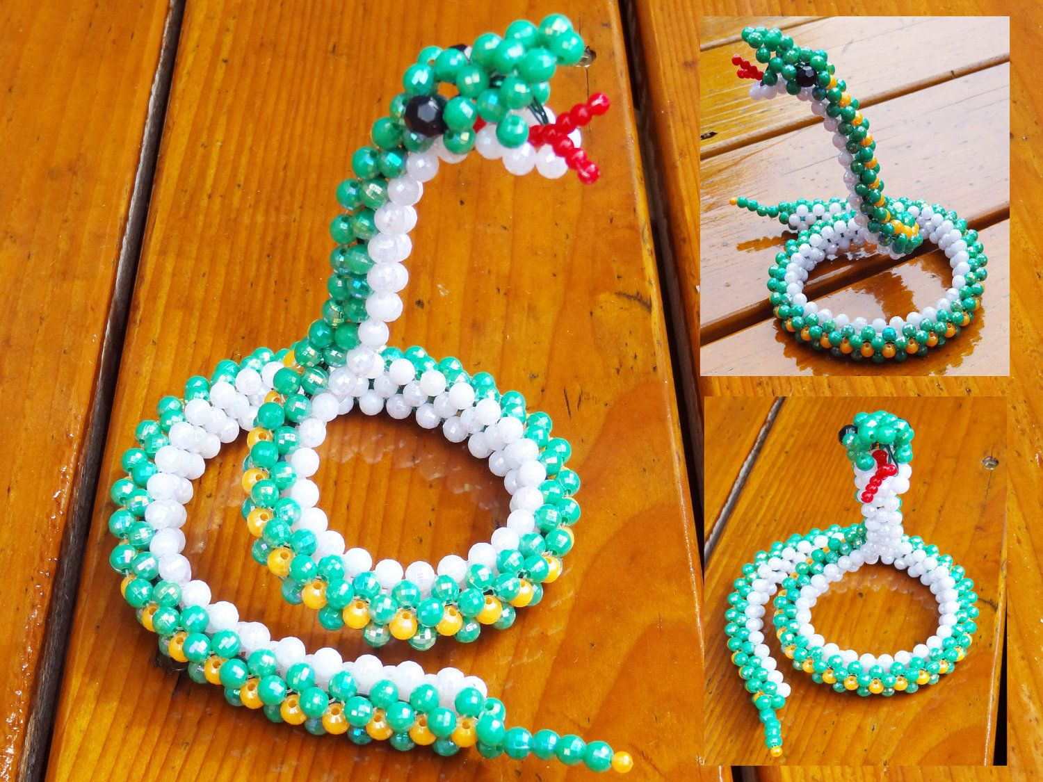 Beaded snake | Beading jewelry projects, Beaded crafts ...