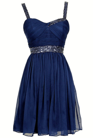 Sparkle and Shine Chiffon Designer Dress by Minuet in Royal Blue www ...