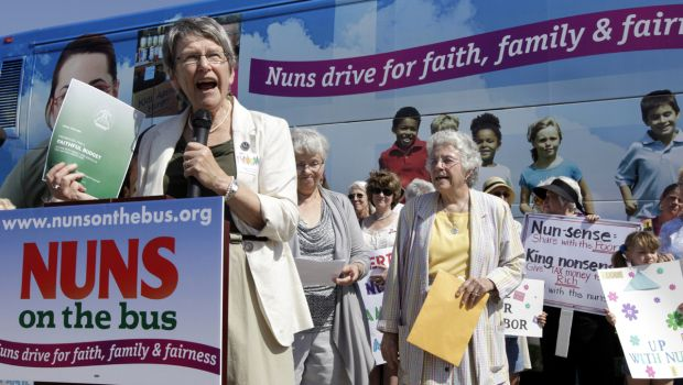 Nun group sets off on bus tour to protest Republican budget - budget proposal
