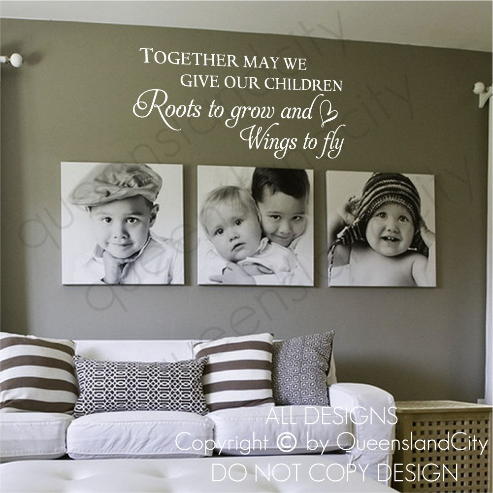 together may we give our children wall quote kid nursery on wall stickers for kids id=20860