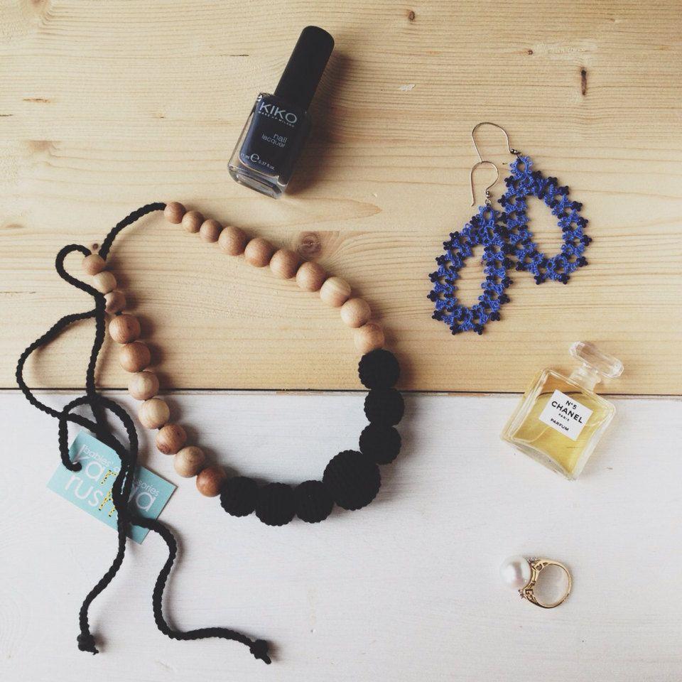 Solid color Nursing necklace black crochet teething by kangarusha, $24.00