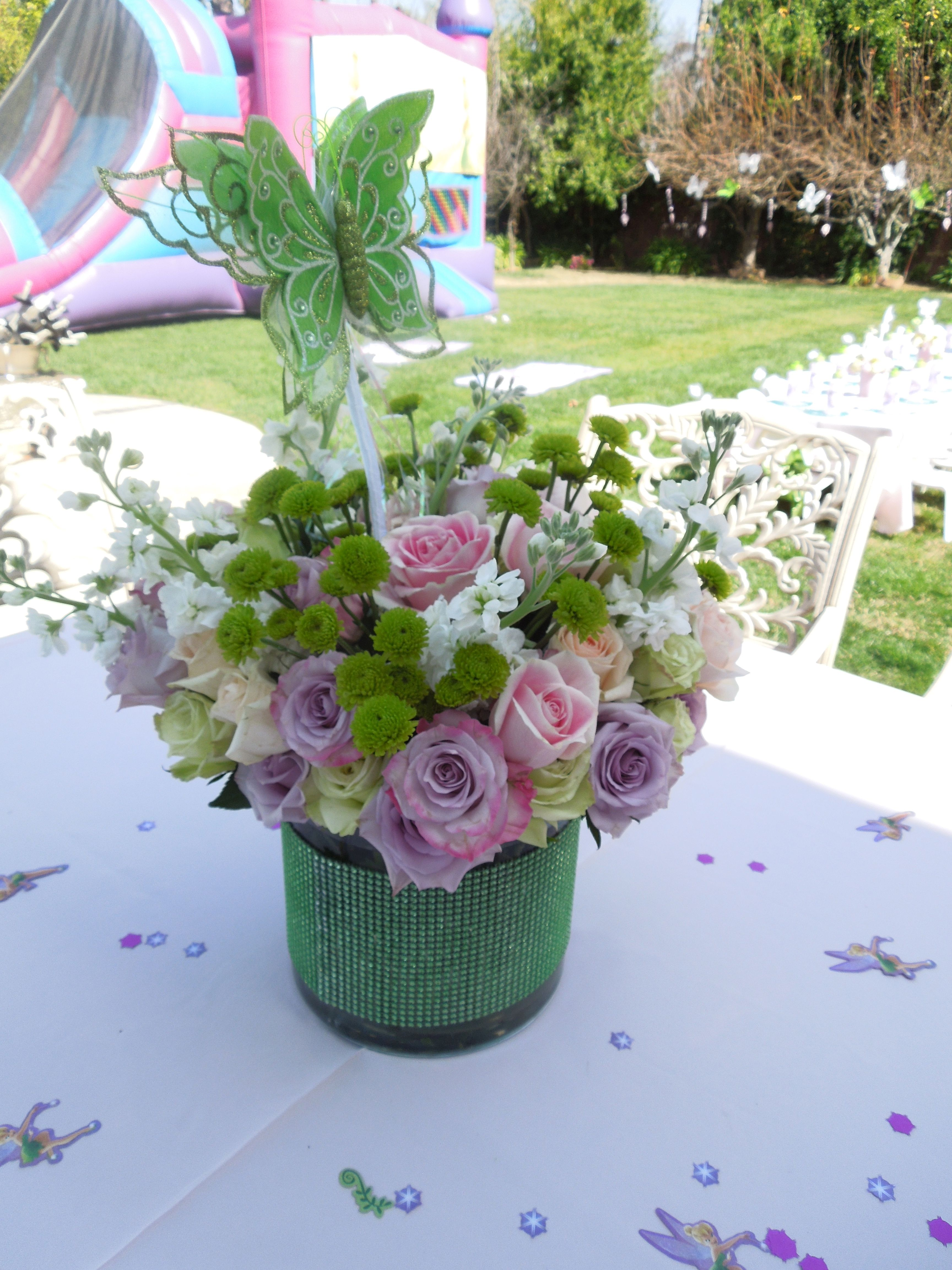 Centerpieces for Tinker Bell Party | Tinkerbell party ...