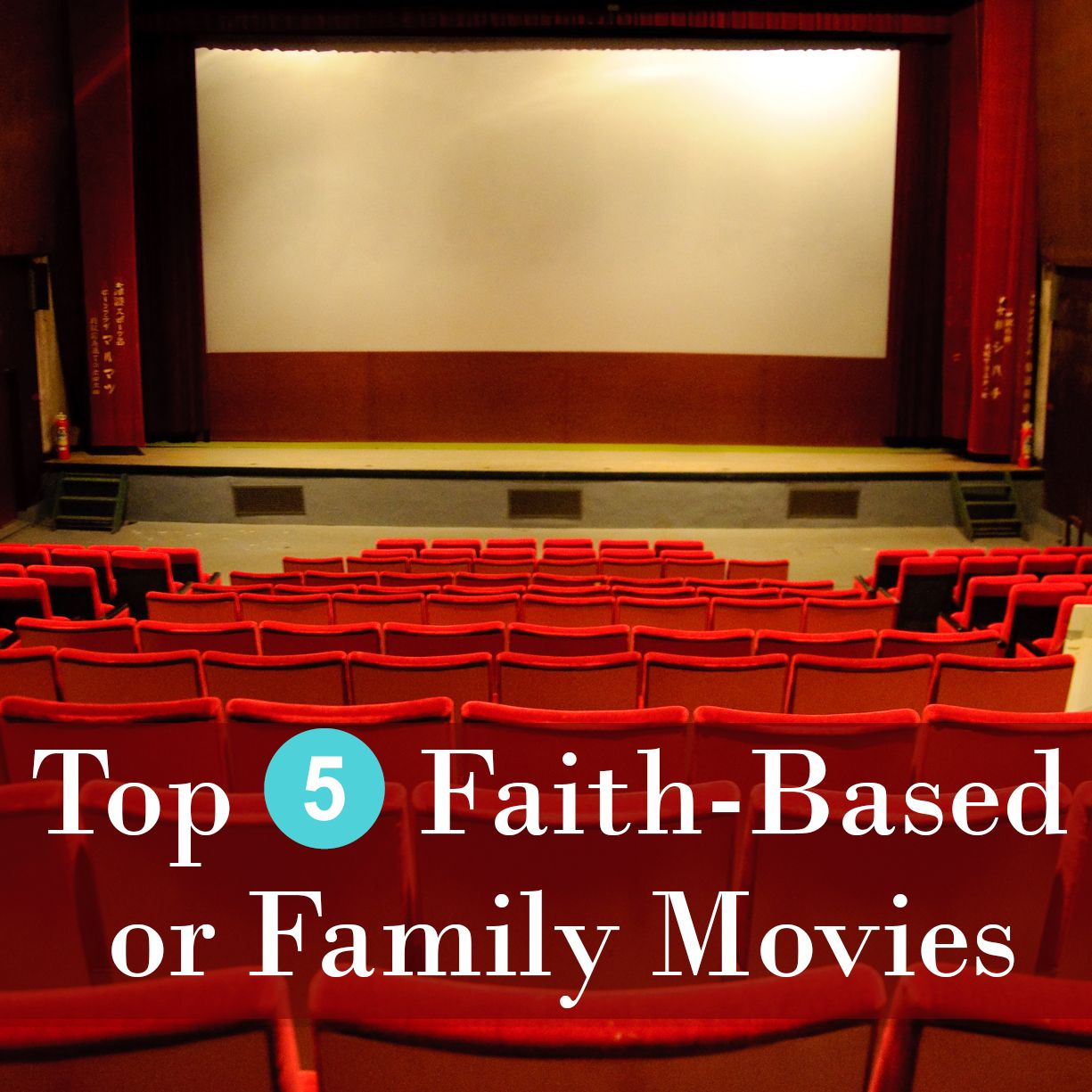 Take a look at the Top 5 Faith-Based or Family Movies according to Amazon.com.