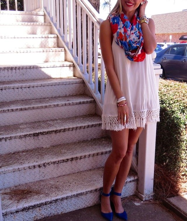 172068dfdff4 Fourth of July outfit all the way. Fourth of July outfit all the way Scarf  Dress ...